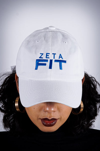 Zeta FIT polo dad hat, white