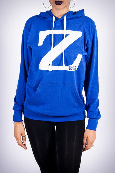 Z for Zeta summer hoodie, blue