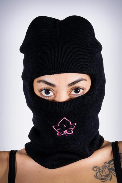 On The Run Ivy ninja ski mask, black
