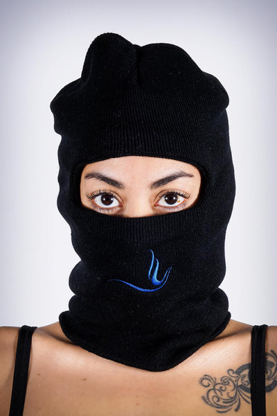 On The Run Peace Dove ninja ski mask, black