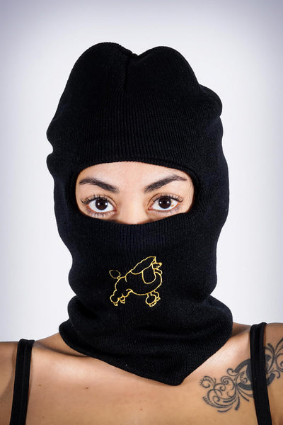 On The Run Poodle ninja ski mask, black
