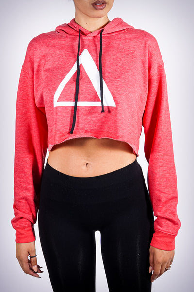All My Love to Δ cropped hoodie, heather red