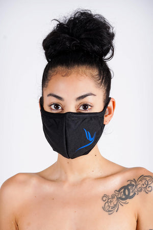 Protected! Peace Dove mouth mask, black