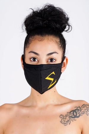 Protected! Σ (gold) mouth mask, black