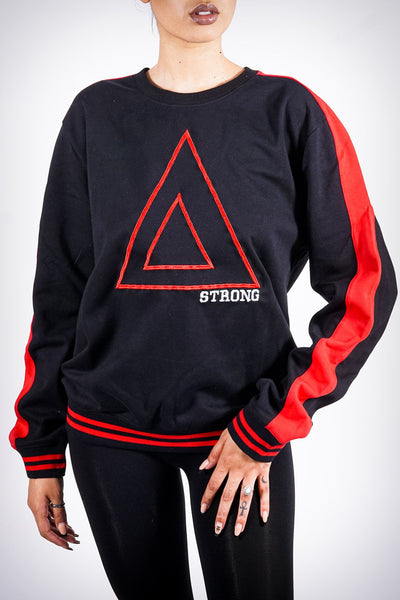 Strong Δ track pullover, black/red