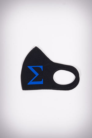 Protected! Σ (blue) mouth mask, black