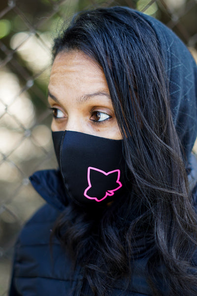 Protected! Ivy mouth mask, black