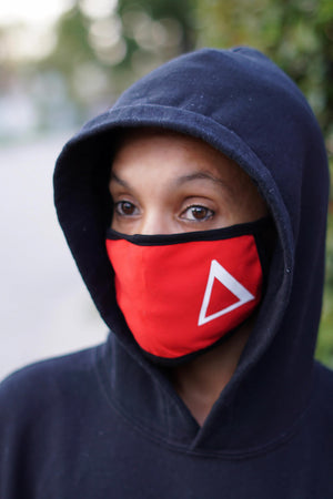 Protected! Δ mouth mask, red