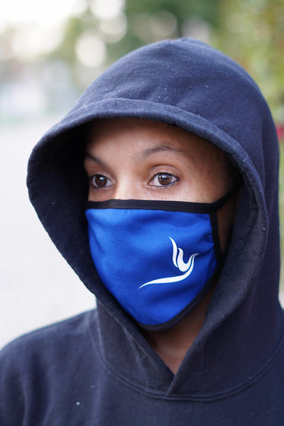 Protected! Peace Dove mouth mask, blue