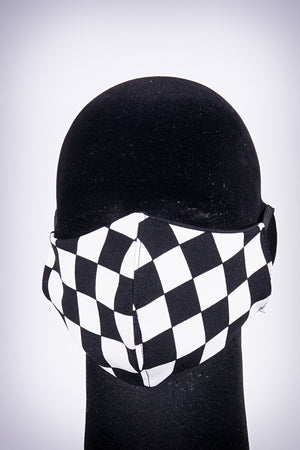 Covered! Checkmate mouth mask, black/white