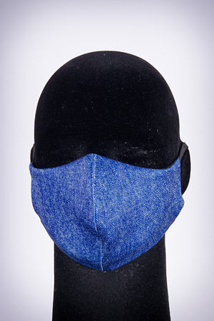 Covered! Denim mouth mask, blue jean