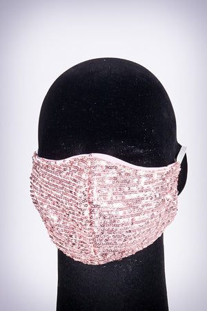 Covered! Sequin mouth mask, pink