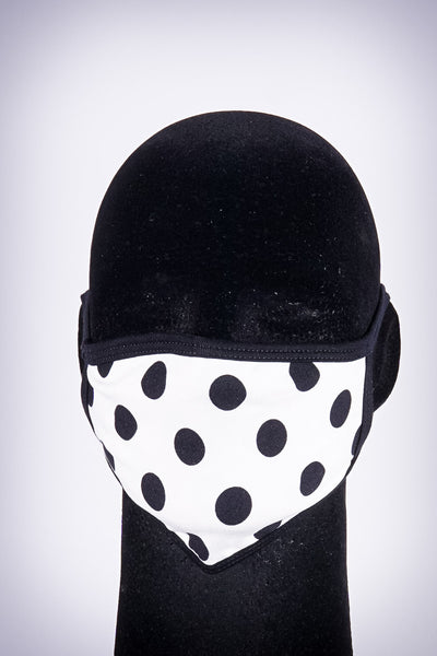 Covered! Polka mouth mask, white