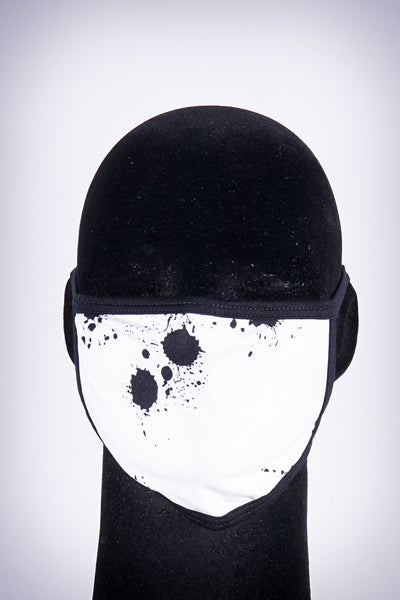 Covered! Splatter mouth mask, white