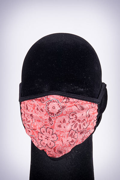 Covered! Flower Power mouth mask, red