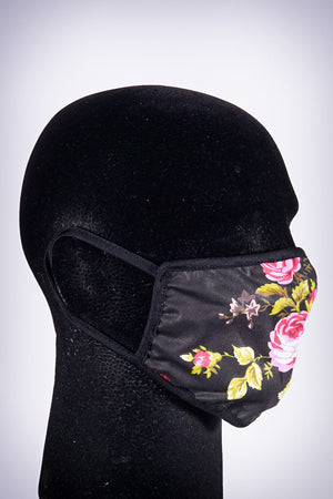 Covered! War of the Roses mouth mask, black