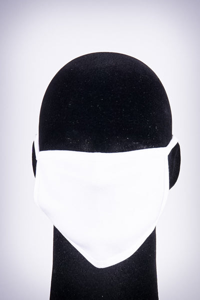 Covered! Solid mouth mask, pure white