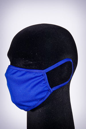 Covered! Solid mouth mask, royal blue