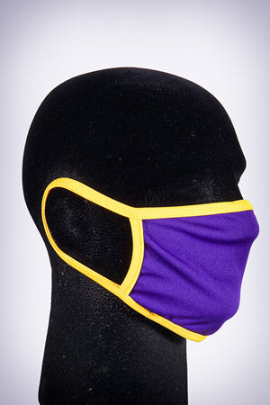 Covered! Solid mouth mask, royal purple/gold