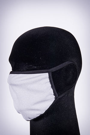 Covered! Solid mouth mask, light grey/black