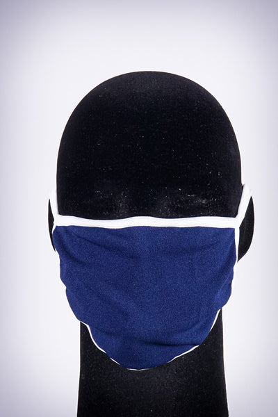 Covered! Solid mouth mask, navy blue/white