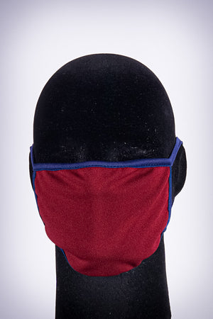 Covered! Solid mouth mask, maroon/navy blue