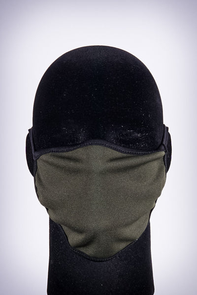 Covered! Solid mouth mask, olive/black