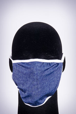 Covered! Solid mouth mask, denim blue/white