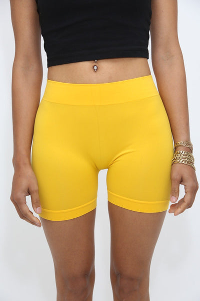 Lollipop lounge shorts, banana gold