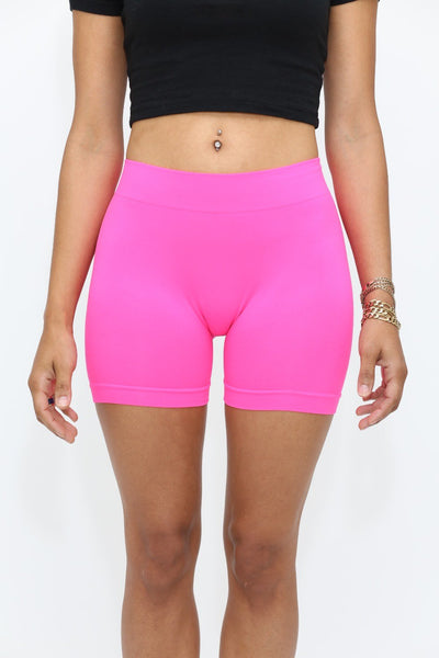 Lollipop lounge shorts, punch pink