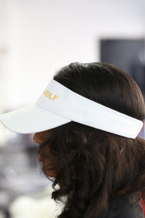 SGRhos Golf visor, white