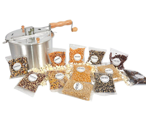Popcorn Popper Sampler Set with Popcorn Included