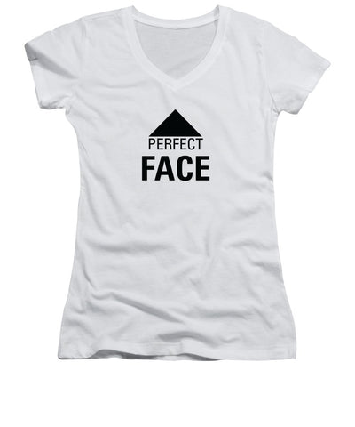 Perfect Face - Women's V-Neck T-Shirt (Junior Cut)