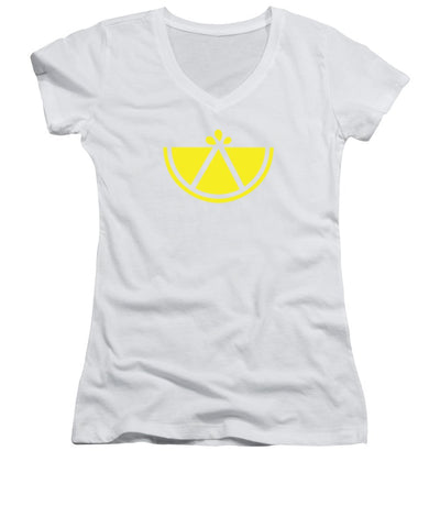 Simply Lemon - Women's V-Neck T-Shirt (Junior Cut)
