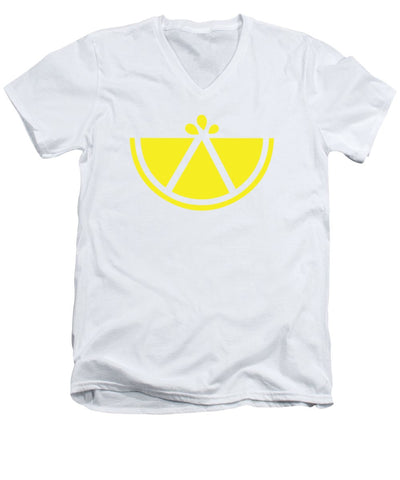 Simply Lemon - Men's V-Neck T-Shirt
