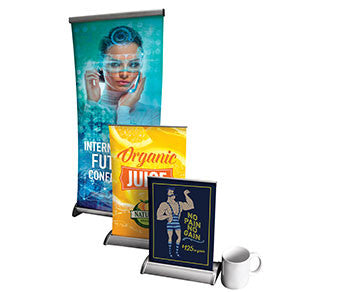 Tabletop Retractable Banner Stand (Various Sizes)