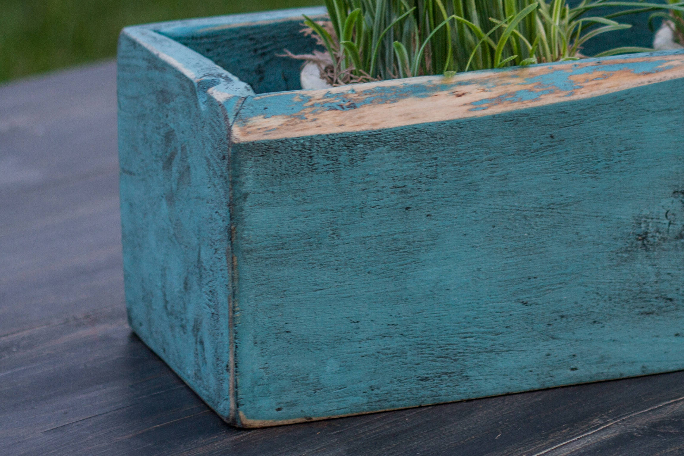 Rustic Fixer-Upper Type Wood Table Box Decor