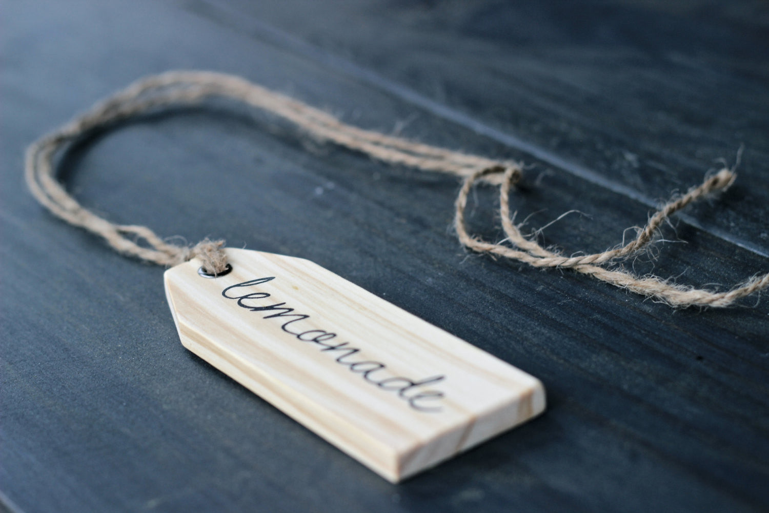 Wood Beverage Tags, rustic - Double Sided - Sartain's Awesome Shoppe
