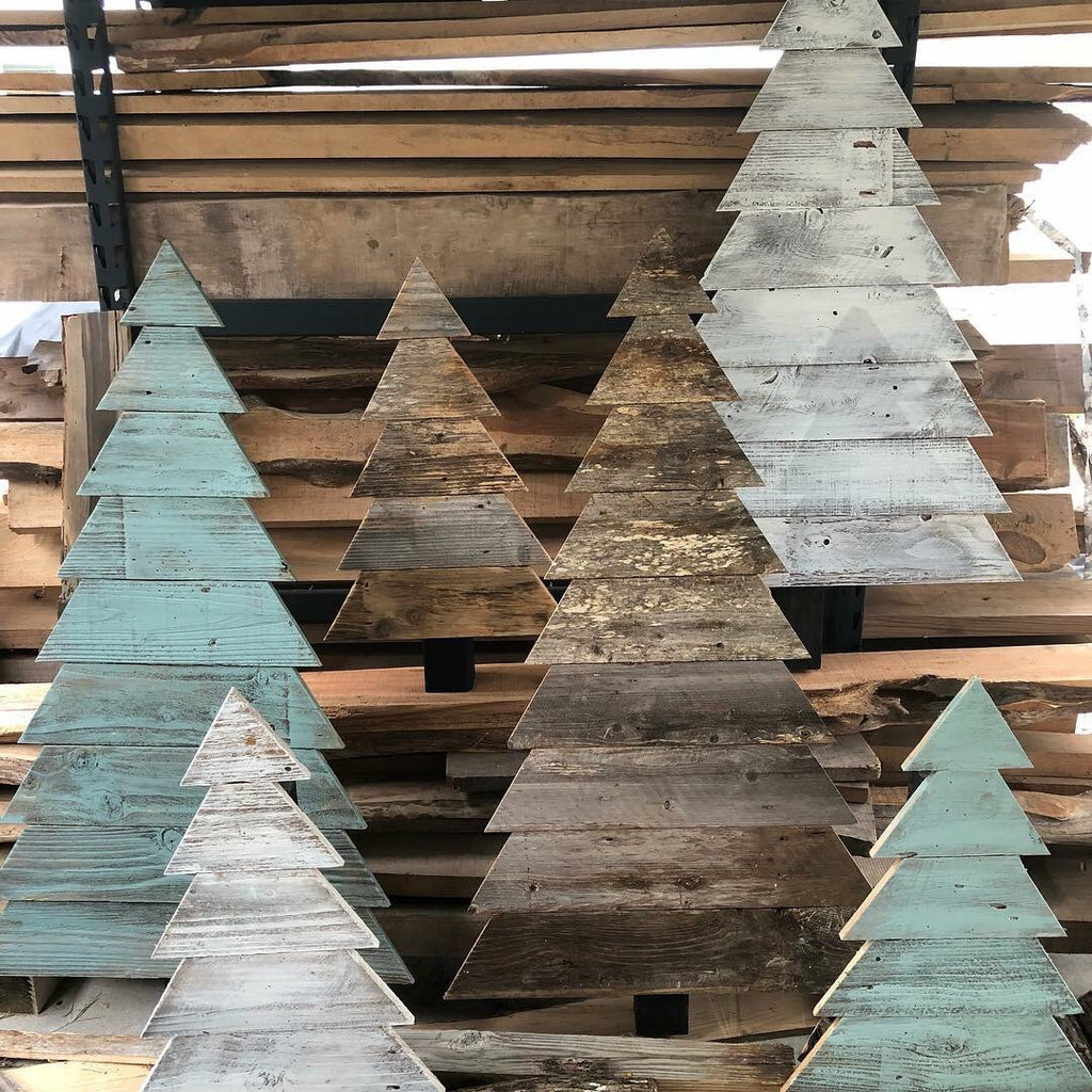 Outdoor Wooden Christmas Trees