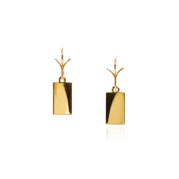 18k 'tag' earrings