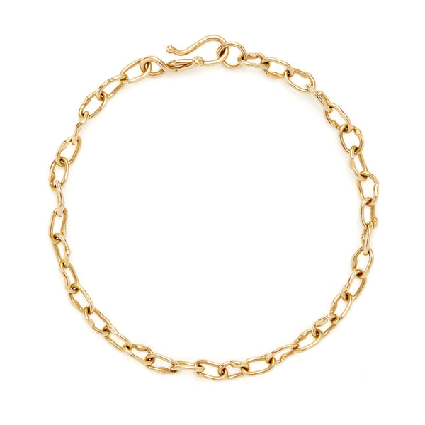 "18k yellow gold ""Tiberius"" oval link bracelet."