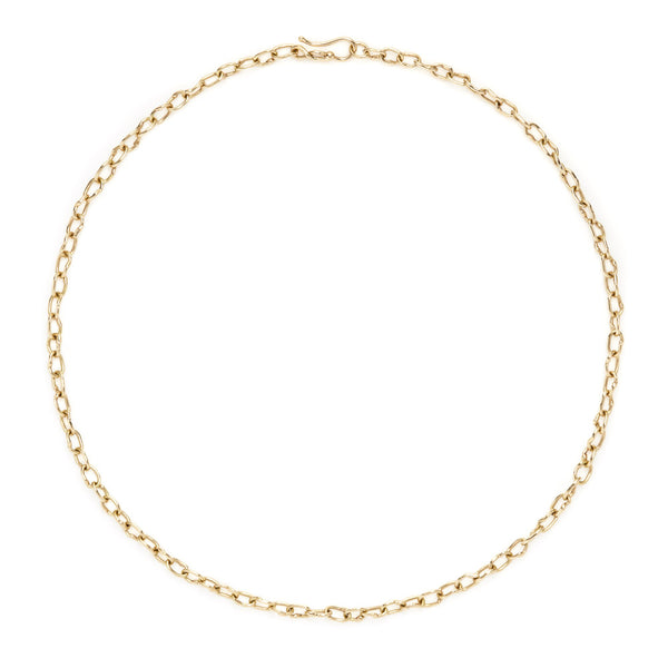 "18k ""Tiberius"" oval link necklace"