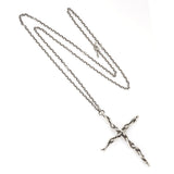 Sterling large vine cross pendant