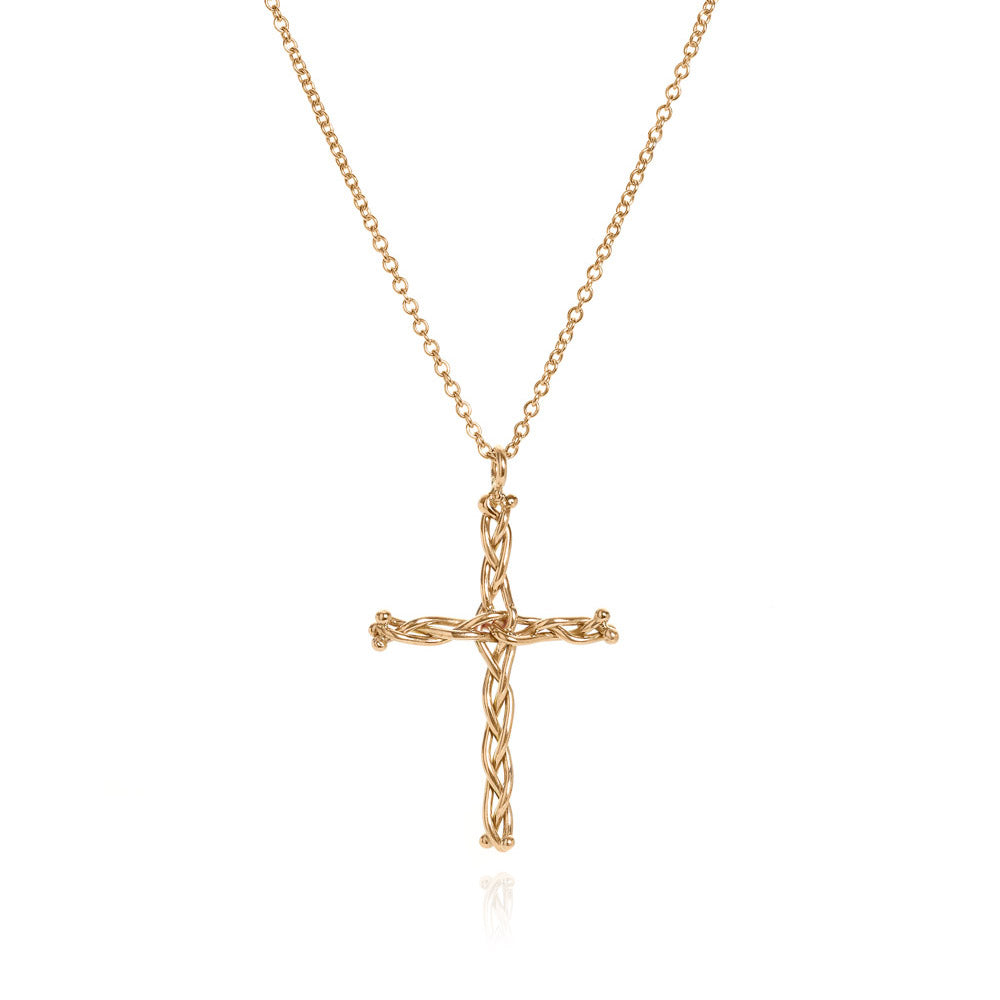 18k medium vine cross