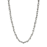 Sterling silver heavy random link necklace