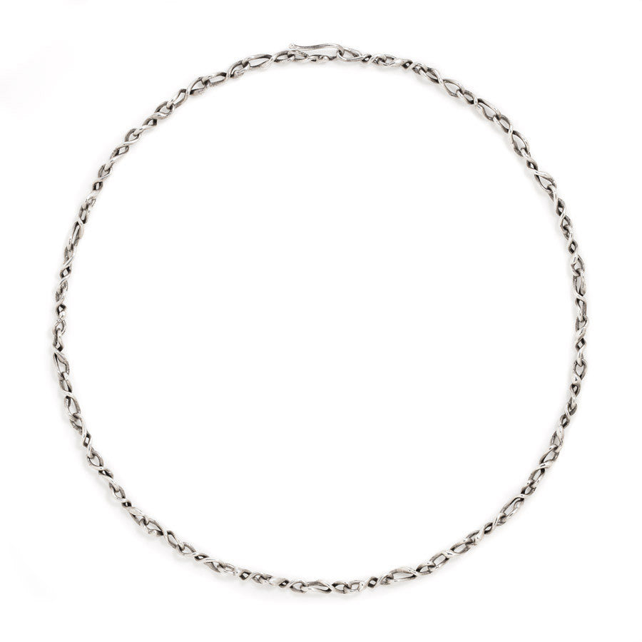 Sterling silver medium link necklace