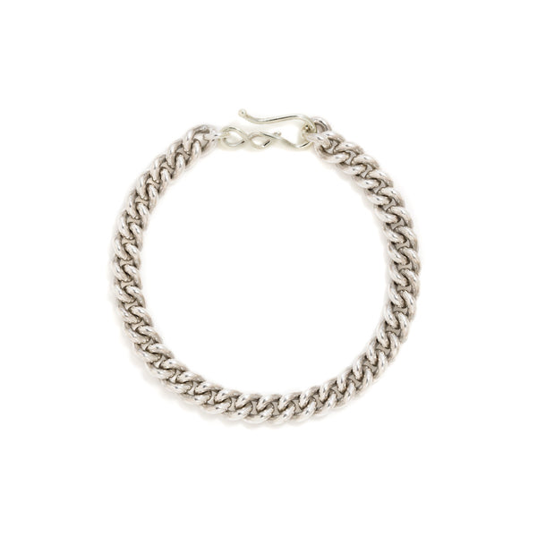 Sterling curb chain bracelet