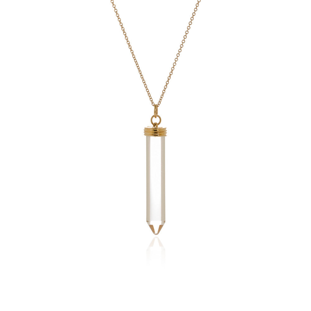 Rock crystal 'pencil' pendant