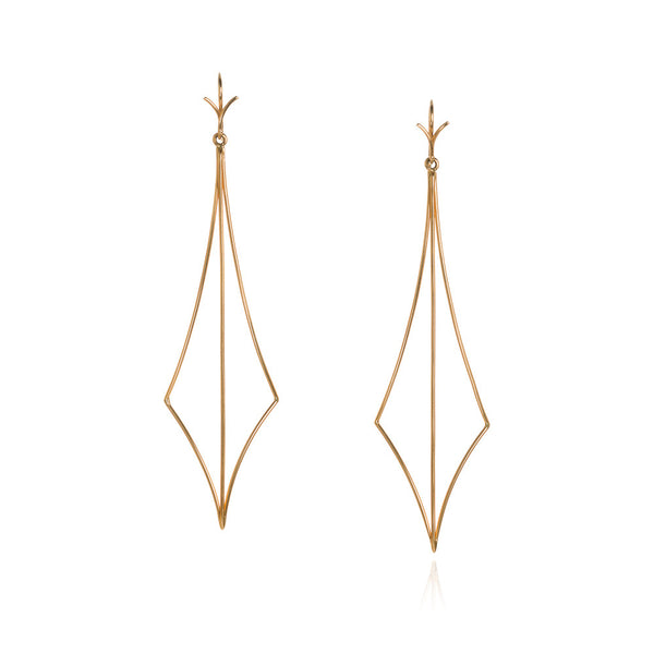 18k 'dragon spike' earrings