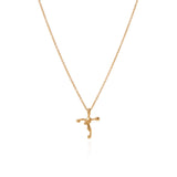 18k small organic cross